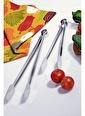 Kitchen World Paslanmaz Çelik 2'Li Uzun Ve Kısa Izgara Maşa Seti Gümüş